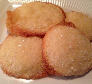 Lemon Crinkle Cookies baked with turbinado sugar