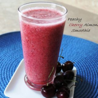 Peachy Cherry Almond Smoothie