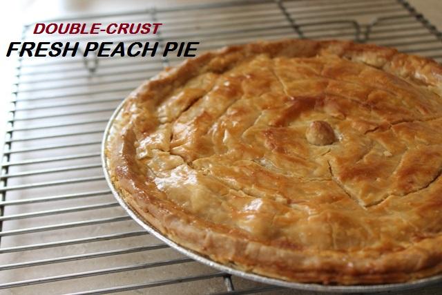 Peach Pie Baked