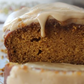 Pumpkin Bread with Caramel Icing