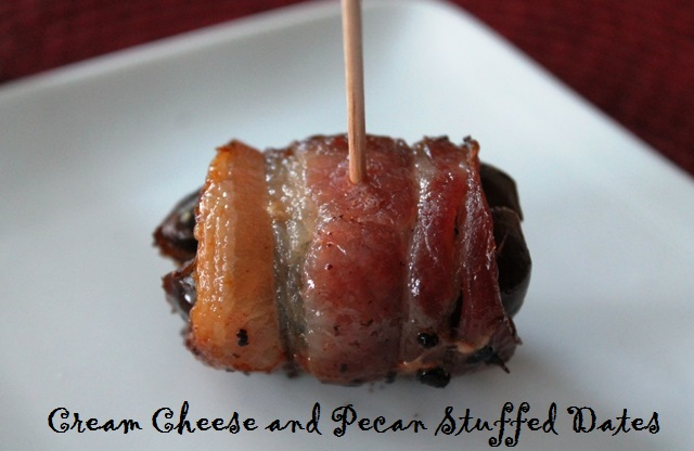 Cream Cheese Pecan Stuffed Dates