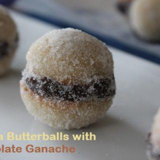 Vanilla Butterballs with Chocolate Ganache