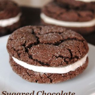 Chocolate Sugared Sandwich Cookie