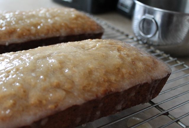 Glazed Apple Cinnamon Oatmeal Bread Loaf