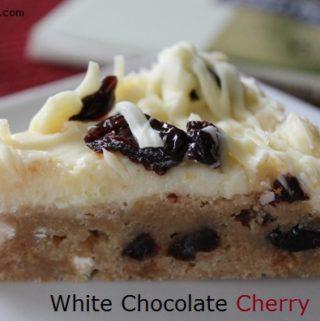 White Chocolate Cherry Blondies