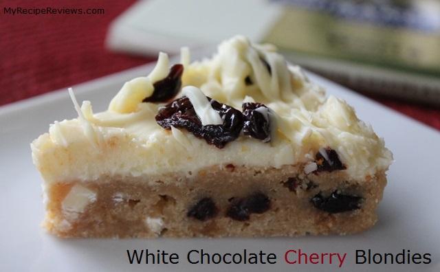 White Chocolate Cherry Blondies – My Recipe Reviews