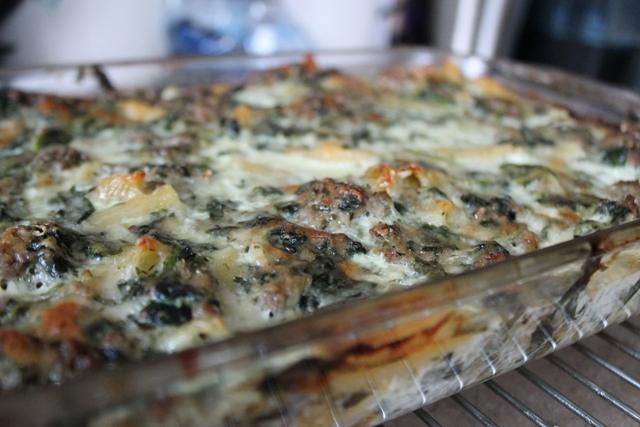 Spinach Macaroni Casserole