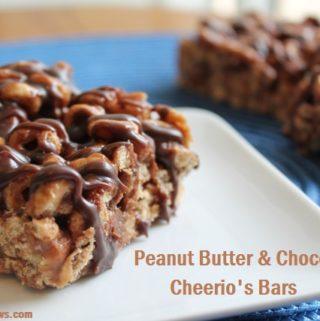 Peanut Butter & Chocolate Cheerio's Bars