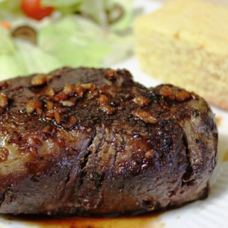Balsamic-Glazed Filet with Sweet Cornbread