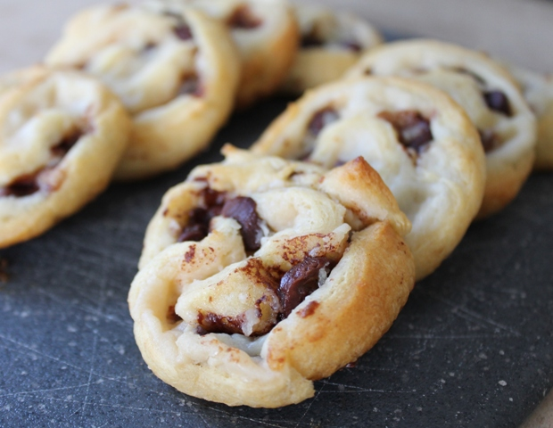 Chocolate Chip Cream Cheese Crescents 2