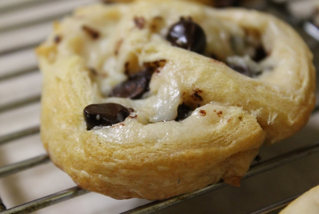 Chocolate Chip Cream Cheese Crescents 3