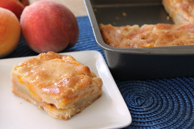 Peachy Brown Butter Bars and Pan