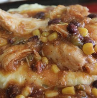 Crockpot Chicken with Black Beans and Corn