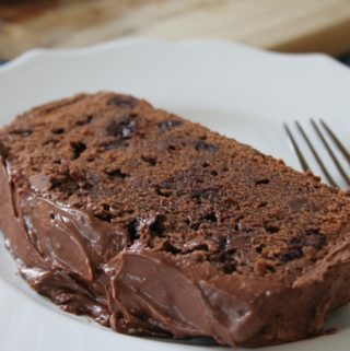 Chocolate Chip Chocolate Cake with Chocolate Buttercream Frosting