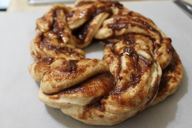 Cinnamon Twist Bread with Butter Glaze