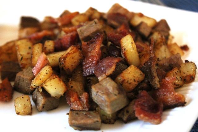 Brisket and Bacon Hash