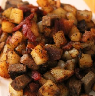 Brisket and Bacon Hash