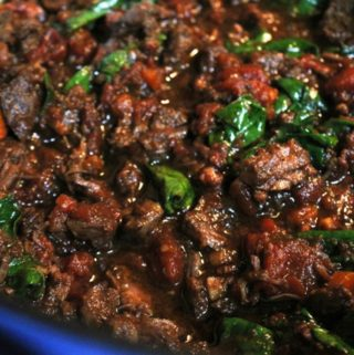 Short-Rib Ragu with Bacon and Spinach