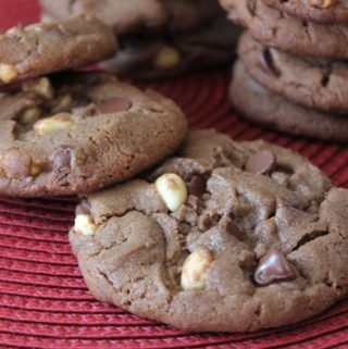 Double Chocolate Peanut Chip Cookies