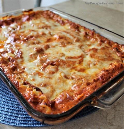 Three Cheese and Sausage Lasagna – My Recipe Reviews