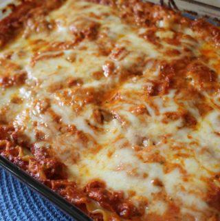 Three Cheese and Sausage Lasagna