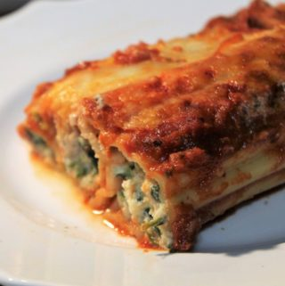 Saucy Spinach Manicotti