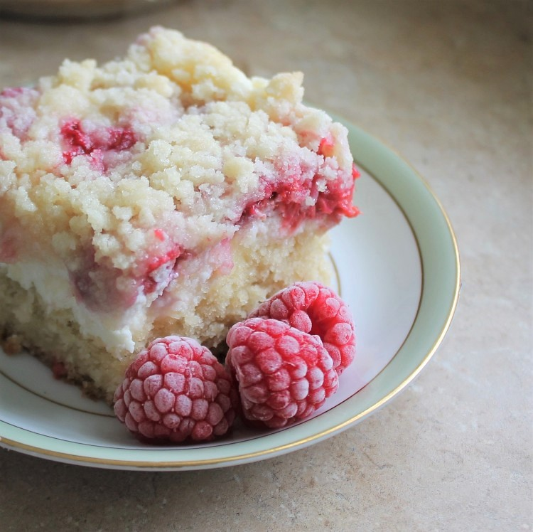 Fresh Raspberry Cream Cheese Coffee Cake Recipe