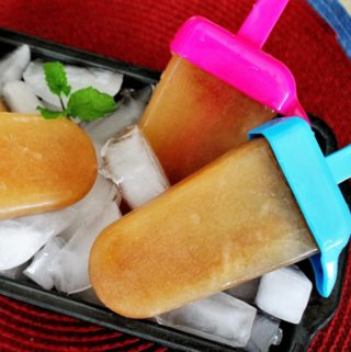 Southern Sweet Tea Popsicles with Mint
