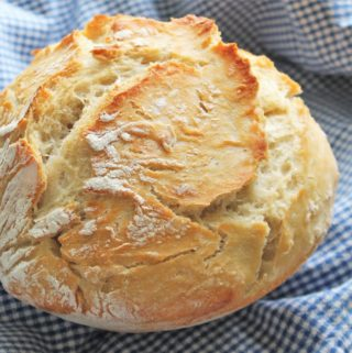 Crusty Bread (No-Knead and Baked in a Bowl!)