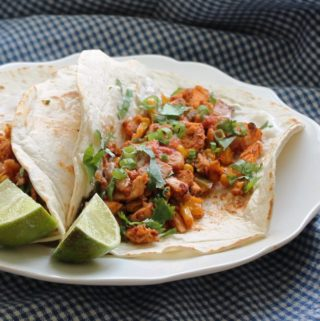 Southwest Chicken Tacos with Charred Corn