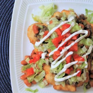 "American Indian Fry Bread ""Taco"""