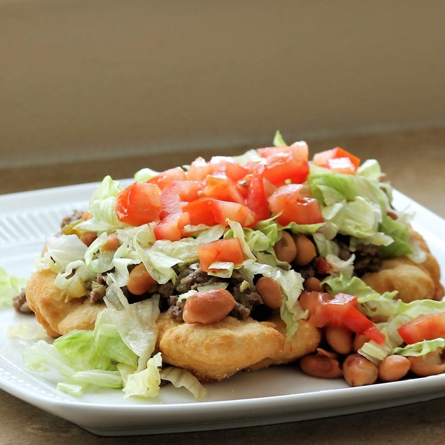 American Indian Fry Bread Taco