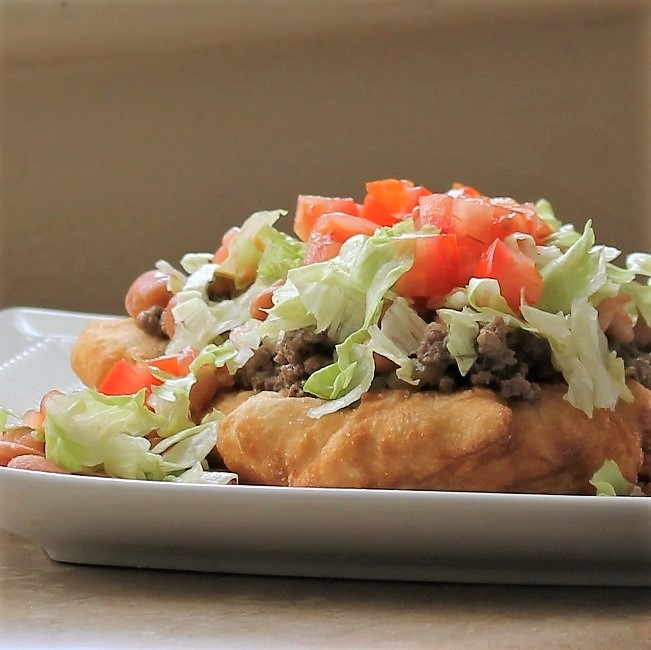 American Indian Fry Bread Taco