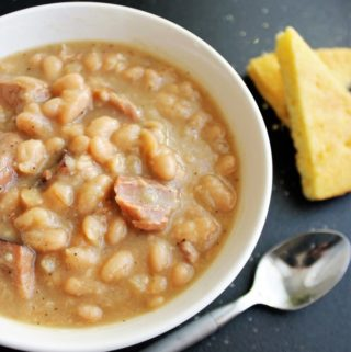 Creamy Great Northern Beans with Ham