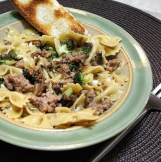 Farfalle with Sausage and Roasted Broccoli