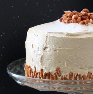 Peanut Butter Pretzel Cake